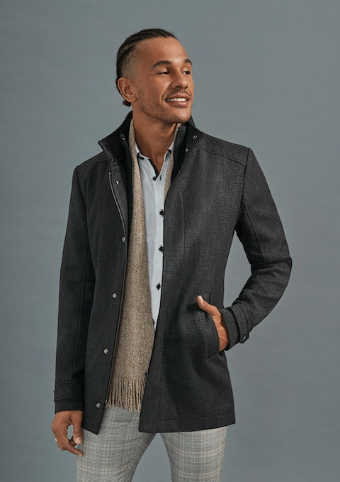 Charcoal Prospect Textured Coat