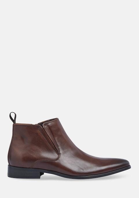 Chocolate Marten Zip Boot