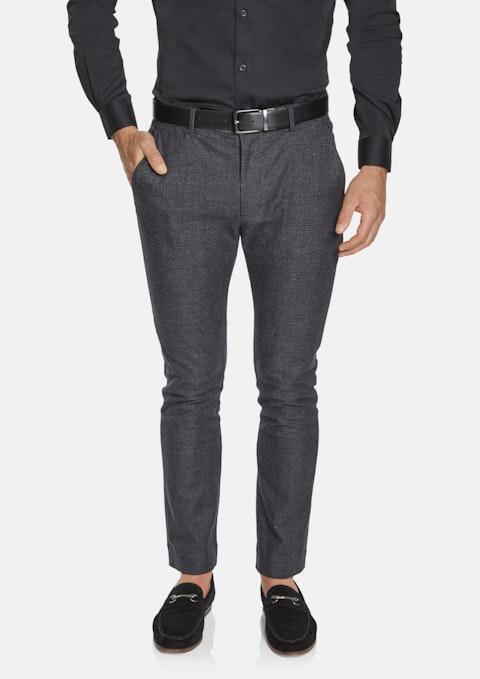 Charcoal Ashland Slim Check Pant