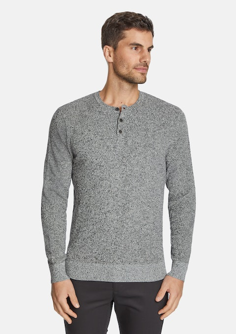 Charcoal Northcote Henley Knit