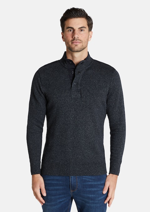 Charcoal Selby Textured Knit