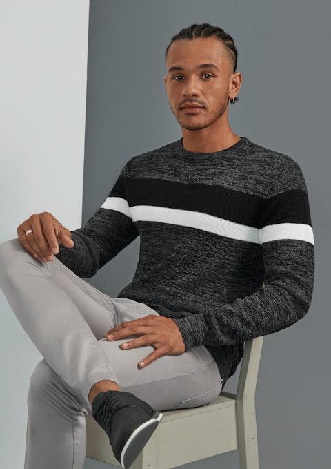 Charcoal Brayden Textured Knit