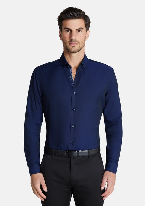 Navy Mercer Bamboo Shirt