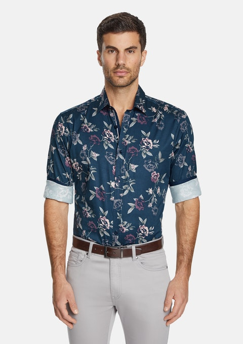 Midnight Lawson Slim Stretch Floral Shirt