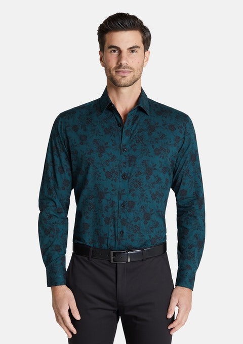 Emerald Vincent Floral Print Shirt