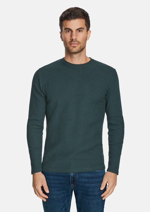 Emerald Boswell Textured Crew Tee