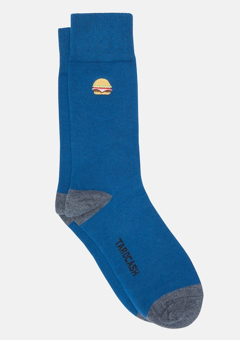 Teal Burger Sock