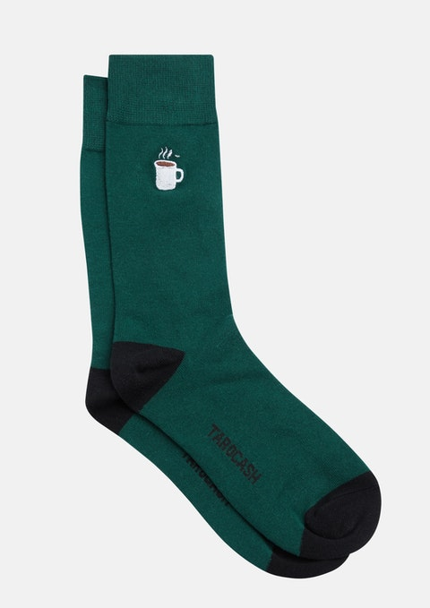 Emerald Morning Coffee Sock
