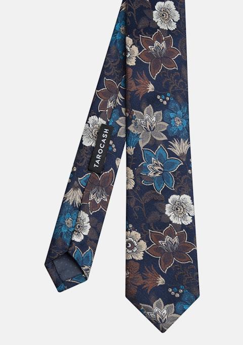 Navy Rockley Floral Silk Tie
