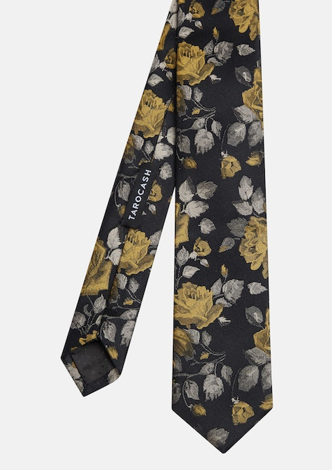 Bronze Chatsworth Floral Silk Tie
