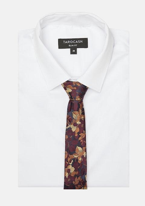 Bronze Emmerton Floral Tie