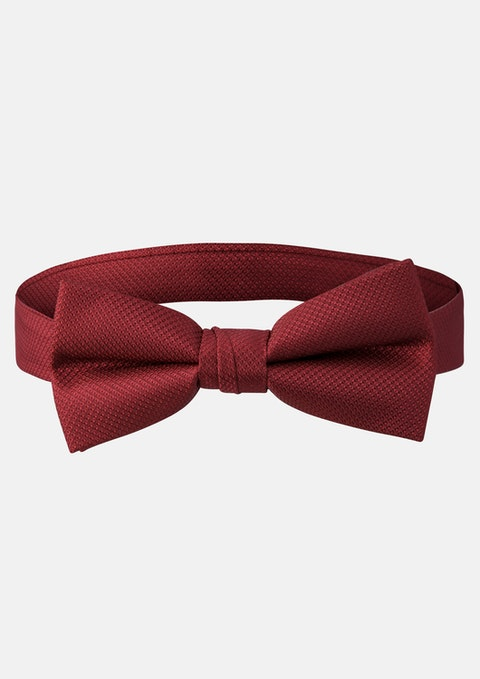 Burgundy Bow Tie Plain