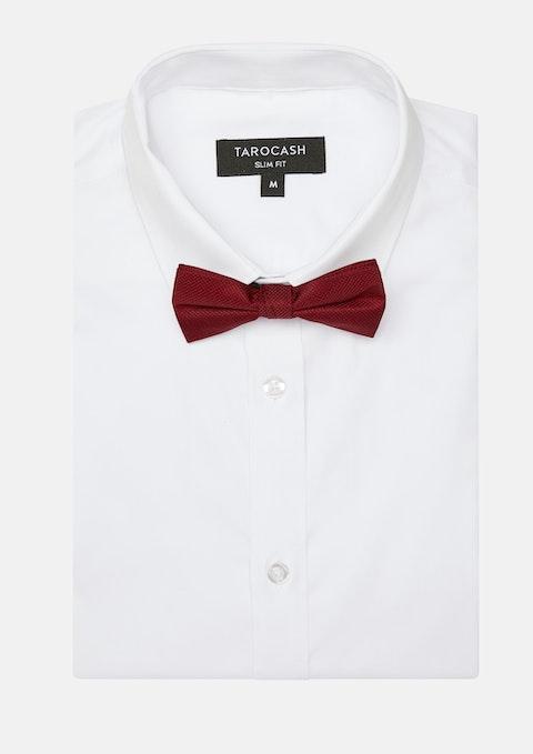 Burgundy Bow Tie Plain